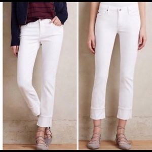 AG Stevie Cuffed Petite White Jeans
